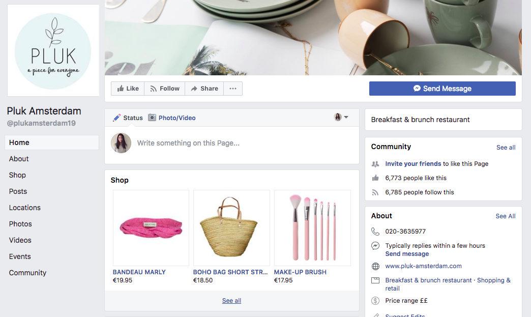 Pluk Facebook Page