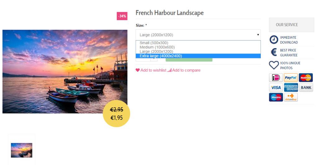 stockfoto voor webwinkel