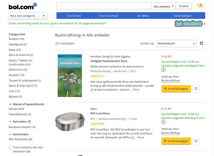 bushcraftshop bol.com