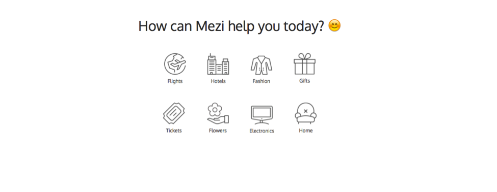 Mezi personal shopping assistant