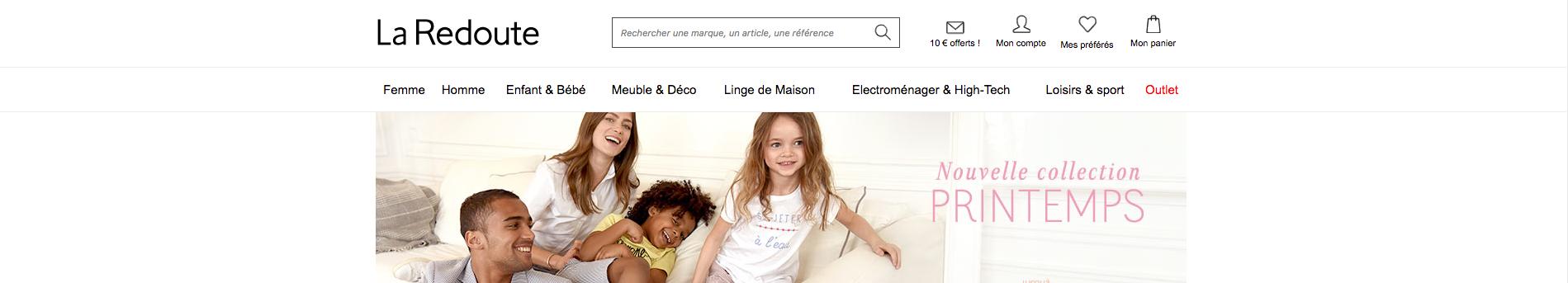 Homepage La Redoute