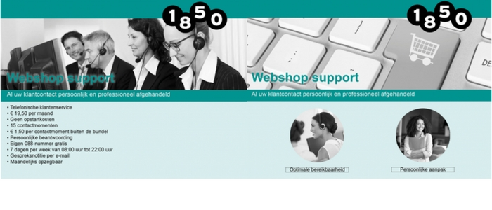 in app 1850 webshop support