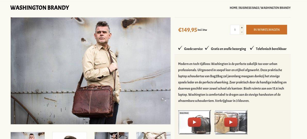 Productpagina van fashion webshop Urban Bozz
