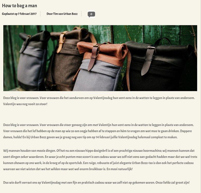 Blogpost van fashion webshop Urban Bozz