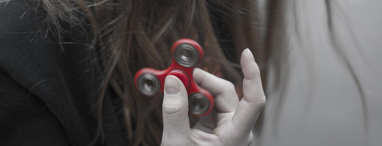 Rode fidget spinner