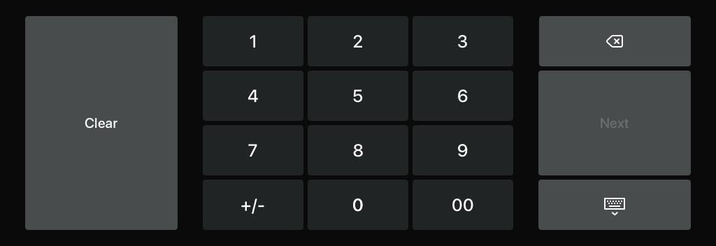Valuta numeriek toetsenbord 2