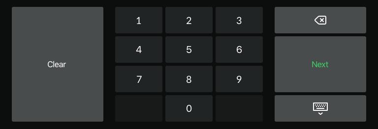 Standaard numeriek toetsenbord 1