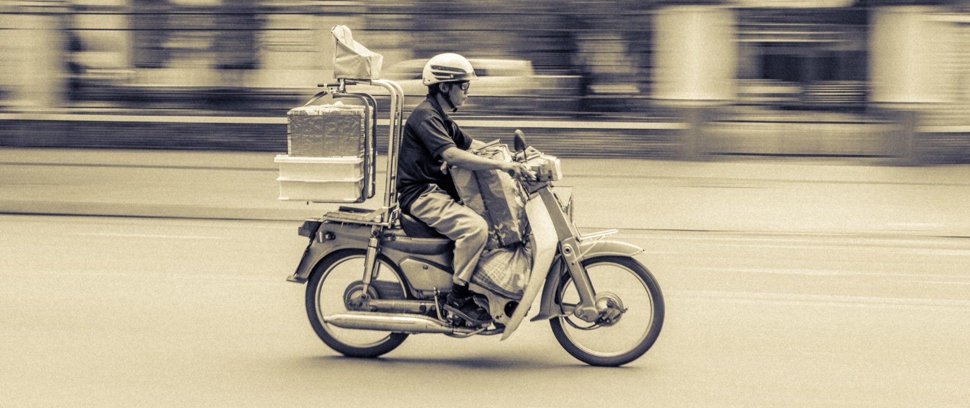Scooter op weg