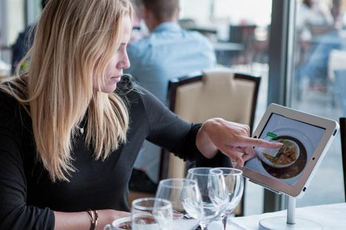 Self-Order Menu Restaurant Terras - mobiele kassa